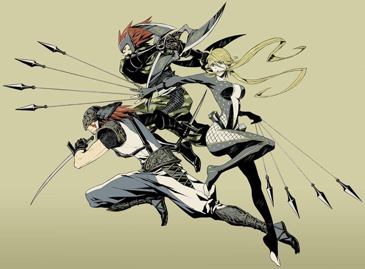 Tags: Sengoku Basara, Capcom, Pixiv, Kasuga, Sarutobi Sasuke, Fuuma Kotarou (Sengoku Basara), Yukimaru (Artist)