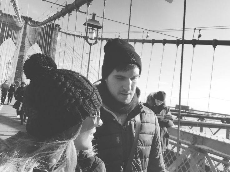 Brooklyn bridge // my love #brooklynbridge #newyork #nyc #romance #myman