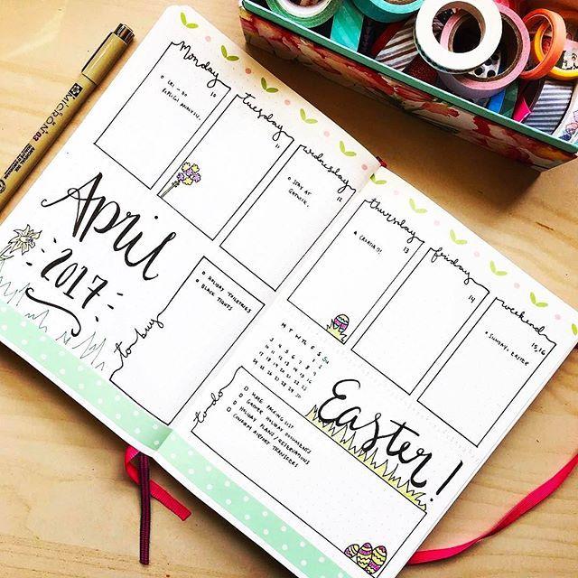 April weekly spread