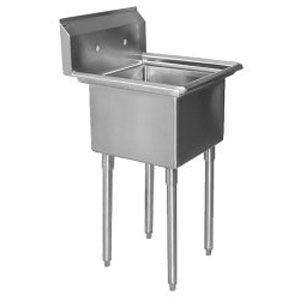 Stainless Steel Mop Sink Commercial : Commercial Stainless Steel 1 One Compartment Utility Prep MOP Sink 23 ...