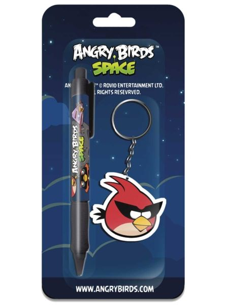 Angry Birds Space -avaimenperä ja kynä