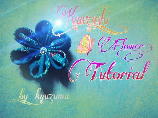Tutorial Kanzashi flower [seni melipat kain dari jepang]