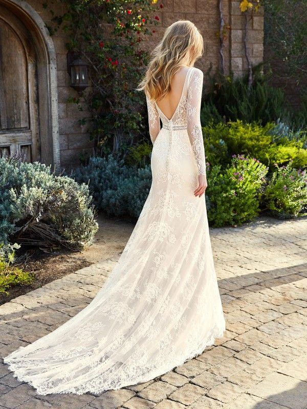 Long Sleeve Wedding Dress Simply Val Stefani Helena S2124 Wedding Dress Long Sleeve Simple Lace Wedding Dress Wedding Gown Lace Sleeves