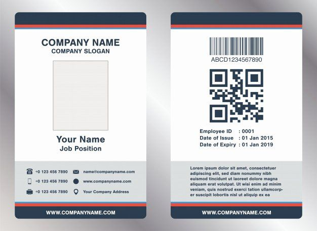 Employee Id Card Template Free Download Luxury Simple Landscape Employee Id Card Template Vecto Employee Id Card Id Card Template Business Card Template Design