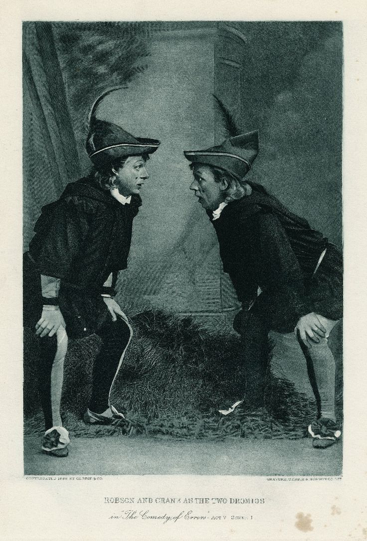 17 best ideas about the comedy of errors william stuart robson and william h crane as the two dromios in the comedy of errors