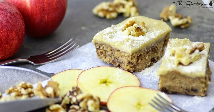 Raw Apple Walnut Cake Recipe