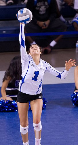 Basic Volleyball Rules of Serving A Volleyball