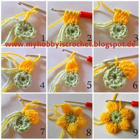 Crochet Flower Dahlia ❥Teresa Restegui http://www.pinterest.com/teretegui/ ❥