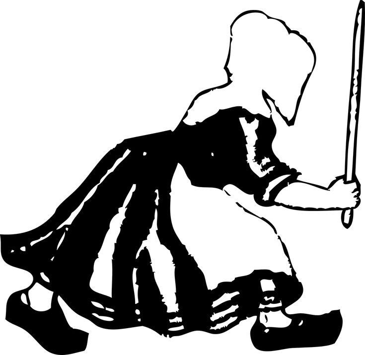 Dutch Woman Wooden Shoes transparent image