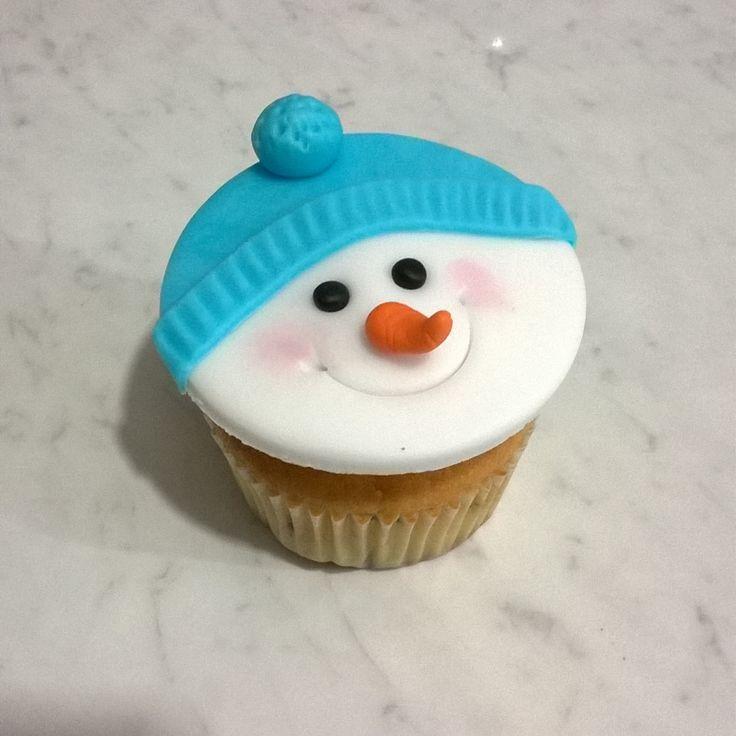 Cupcake pupazzo di neve ⛄