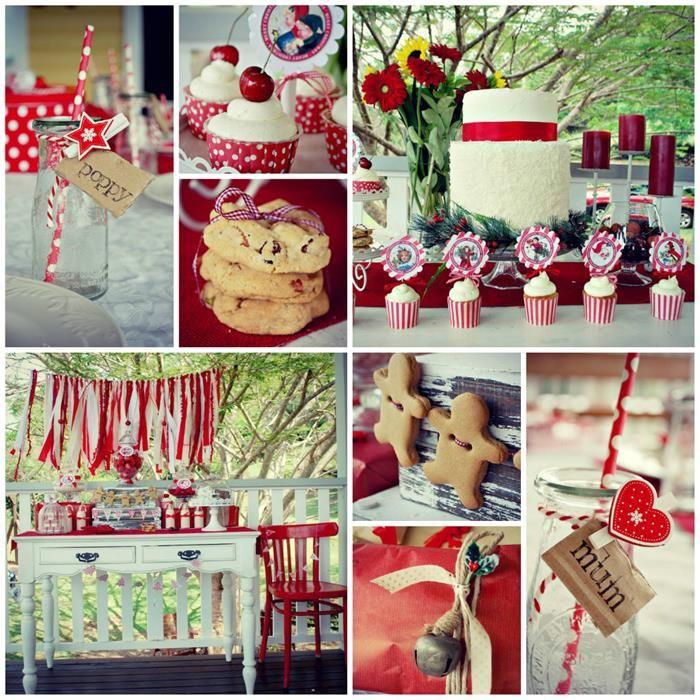 Vintage Christmas Party with Lots of Really Cute Ideas via Kara's Party Ideas KarasPartyIdeas.com #VintageChristmas #VintageHolidayParty #Ch...