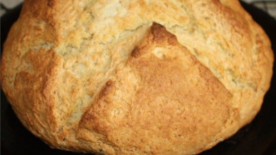 The batter for this unadulterated soda bread features buttermilk for a special richness.