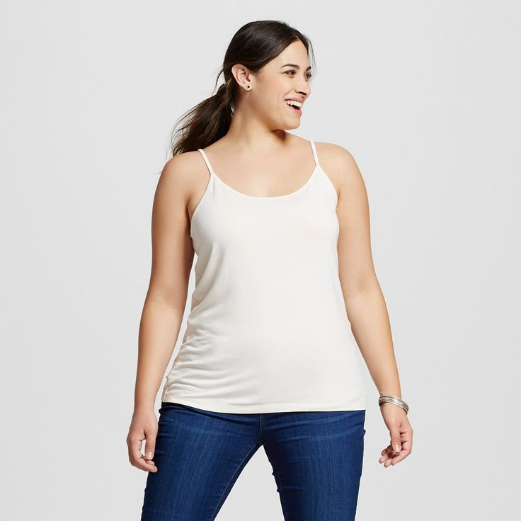 Women's Plus Size Cami Shell (White) 3X - Ava & Viv