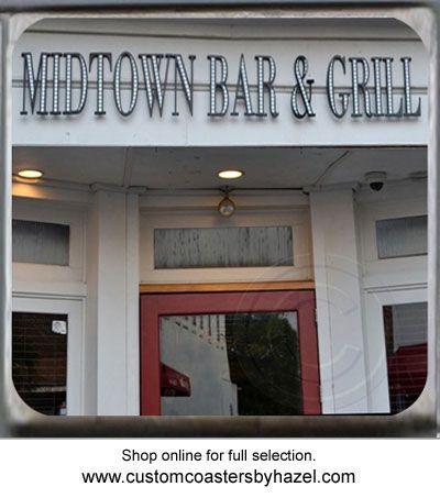 Midtown Bar and Grill Charleston, SC. Marble Stone Coaster. http://yhst-128736562315201.stores.yahoo.net/charleston2.html