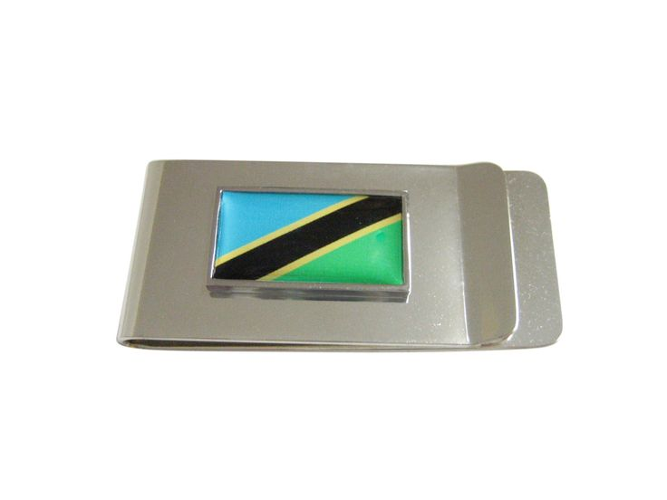 Thin Bordered Tanzania Flag Money Clip
