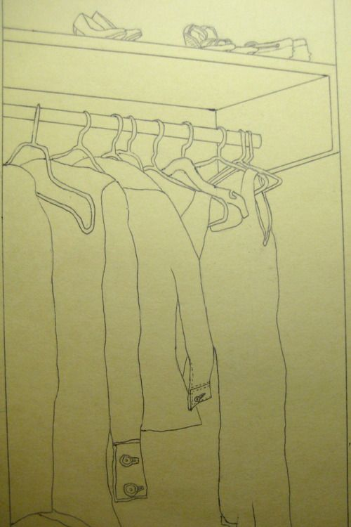 Contour Drawing By 5thand59th Blogger #closet