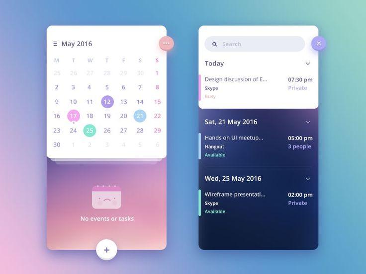 Stunning Examples of Calendar Mobile App Design