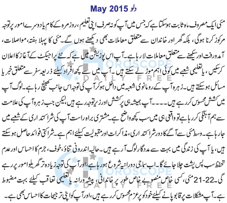 Aquariu Monthly Horoscope in Urdu May 2015