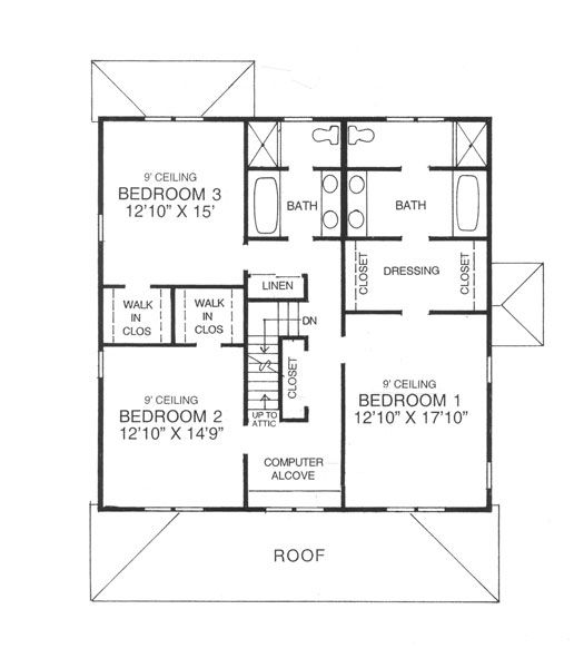 Wonderful 4 Square House Plans #3: American Four Square Floor