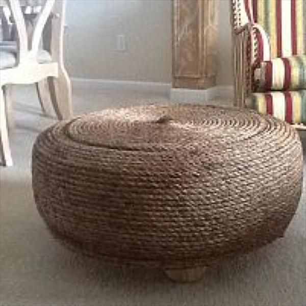 Cute Furniture Gift From Recycled Tire - 27 DIY Recycled Tire Projects |  DIY and Crafts - 127 Best Ottomans & Tables Images On Pinterest Crafts, Tire