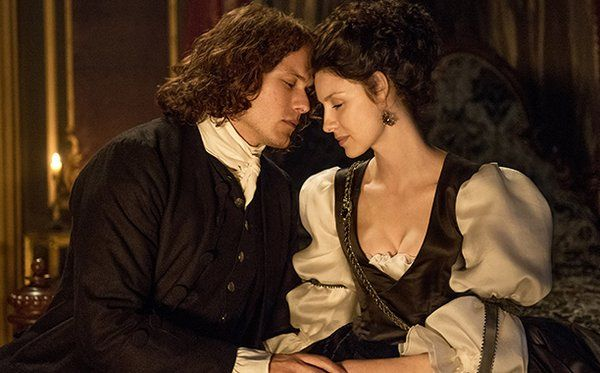 Below is a new Outlander season two photo released today along with EW's review of the second season (they gave it a B). Jamie (Sam Heughan) and Claire (Caitriona Balfe) look to be having a …
