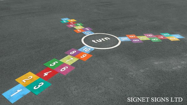 .::Signet Signs::. Bridge Farm Primary School Playground Markings