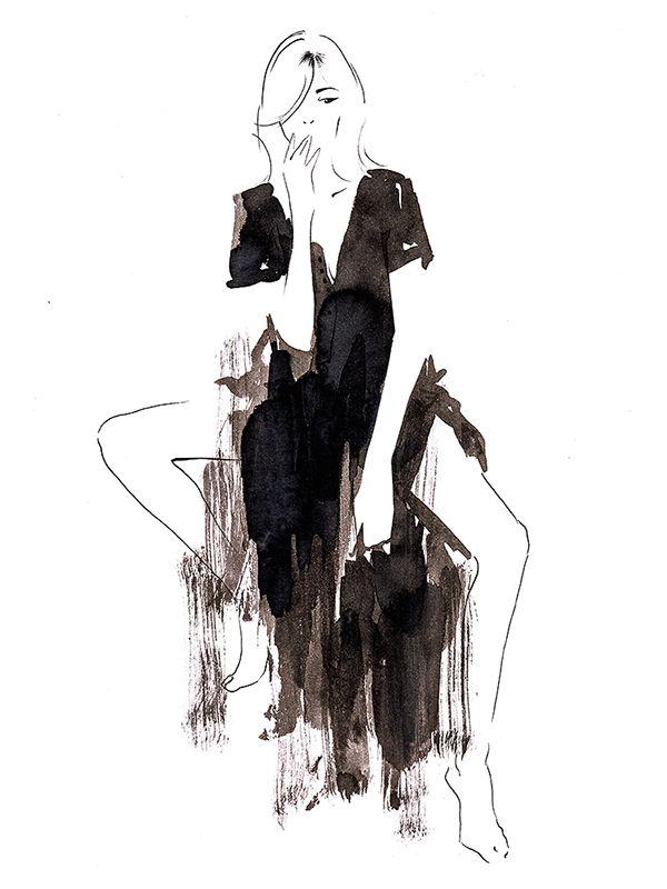 Oh on Behance by Sylwia Dębicka   #fashionillustration #illustration #artist #art #contemporaryart #hautecouture #vogue #minimalism #paris