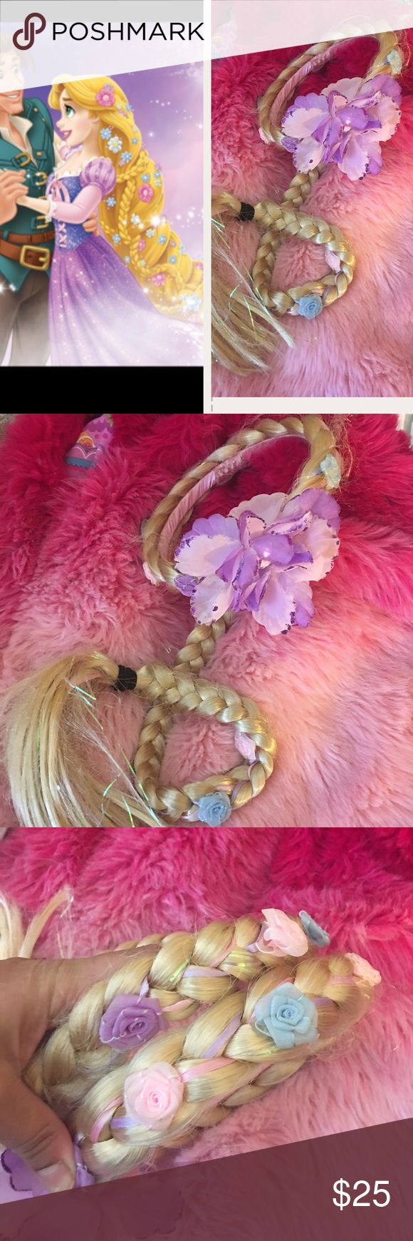 Disney Rapunzel rare braid headband/Tiara Rare hard to find from original Disney store Disney princess Rapunzel long braid headband tiara.. Some parts of braid is messed up but really don't bother. You can set them up with hair pins.. Disney Accessories Hair Accessories