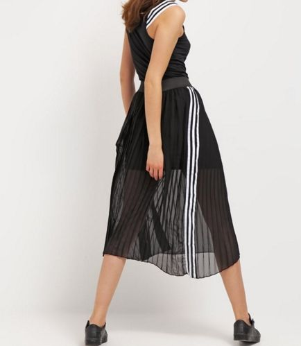 adidas Originals TENNIS plisowana Długa spódnica black