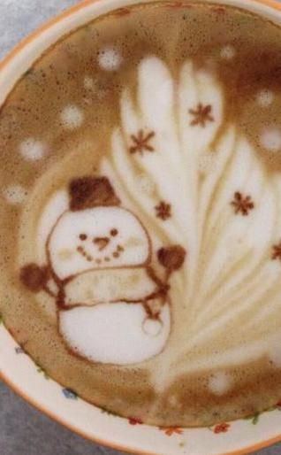 Winter latte Art