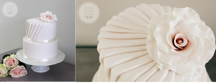 Pleated cake design by Cove Cake Design, Dublin