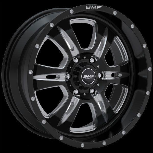 Rehab Wheels by BMF   Chrome & Black Truck Wheels (20x9)