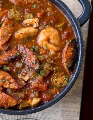 """""""Gumbo-laya"""" With Spicy Sausage, Chicken"""