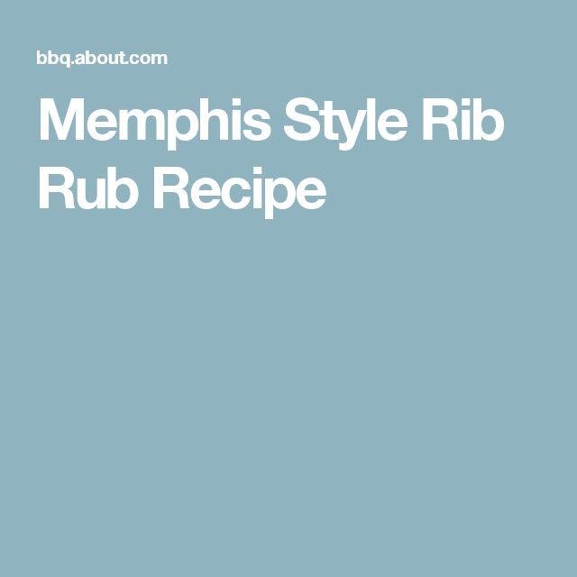 Memphis Style Rib Rub Recipe