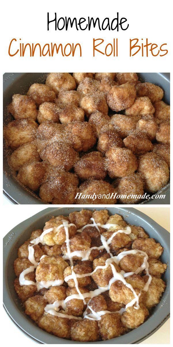 Homemade Cinnamon Roll Bites Recipe
