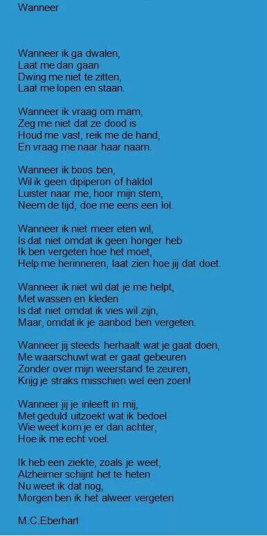 Gedicht over alzheimer