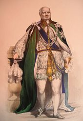 Prince Augustus Frederick, Duke of Sussex in the robes of a Knight of the Order of the Thistle.