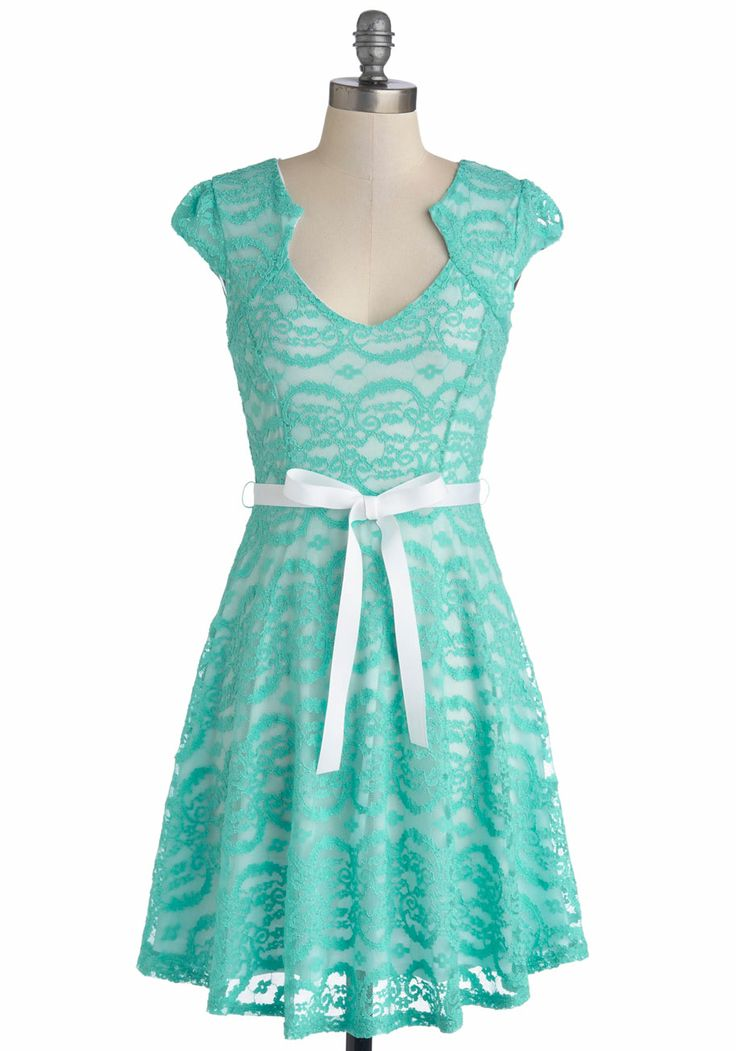 Sweet Staple dress. lace. turquoise. so freaking adorable! $52.99