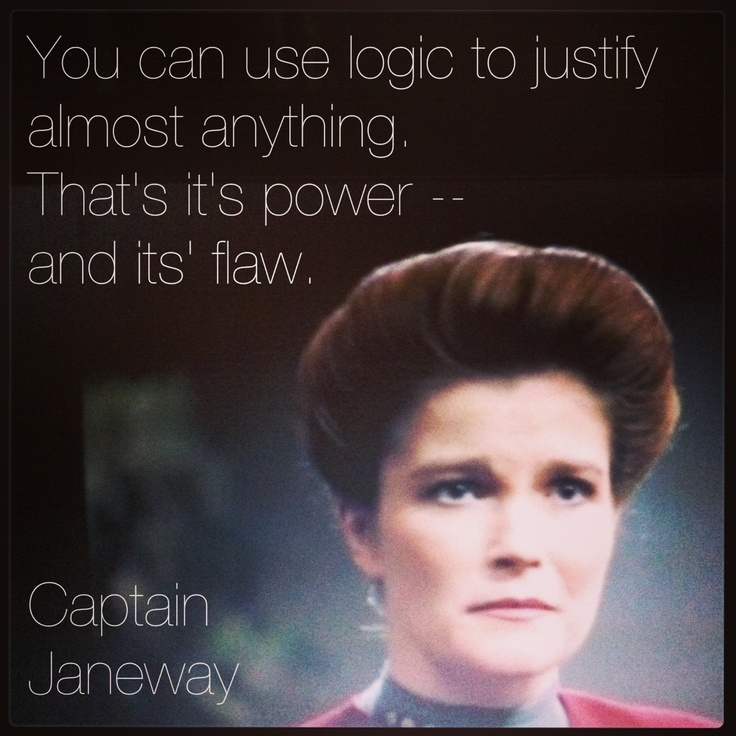 Captain Janeway of the Federation Starship: Voyager