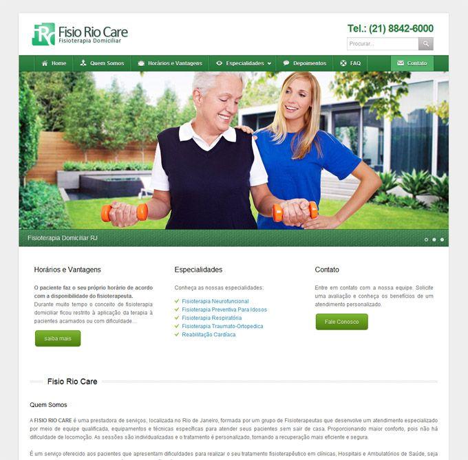 Criação de Site de Fisioterapia Domiciliar no RJ | FisioRioCare | Site com área administrativa de conteúdo e divulgação de serviços de #Fisioterapia Domiciliar realizados no Rio de Janeiro. #WordPress #WebDesign