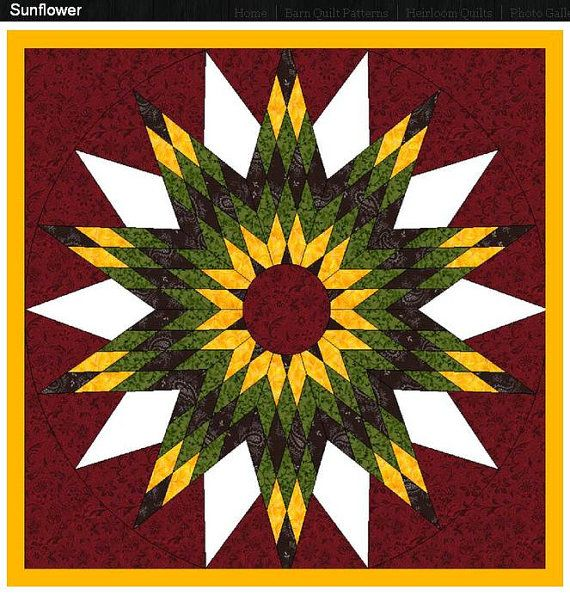 Light Weight Easy To Install Sunflower Barn Quilt With