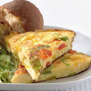 Recept - Paprika-kaasomelet met kruidensla - Allerhande