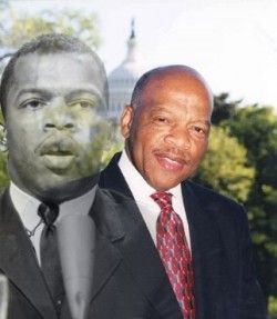 Congressman John Lewis, The last living leader of the Civil Rights movement.