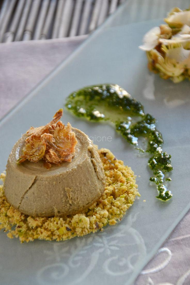 La Cucina di Stagione: Budino di carciofi su sbrisolona salata e insalatina croccante