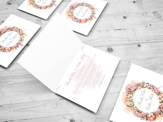 Romantic Wedding Invitation Set / Partecipazioni Matrimonio / Romantic - Floral Style / Printable Wedding Invitation