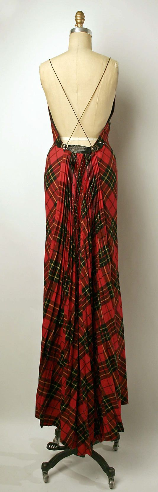 Alexander McQueen dress - I think I'd be okay with wearing my clan sash more often if it looked like this!