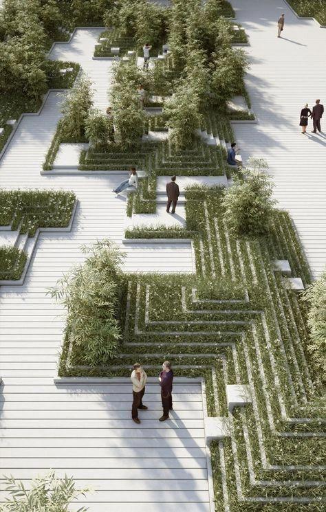 Galerie einer neuen Landschaft von Penda ist inspiriert von indischen Stufenbrüchen und Wasserlabyrinthen – 4