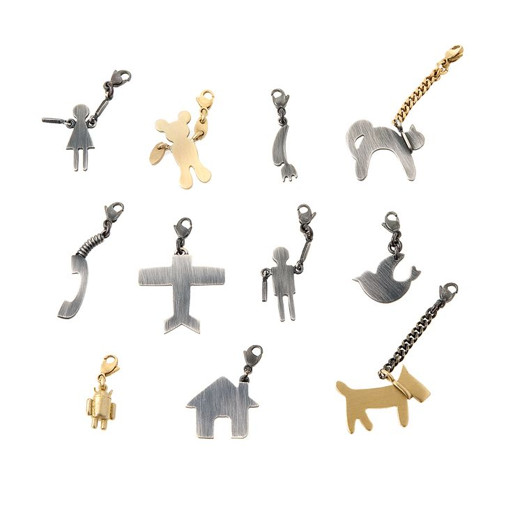 Charms from MACHINY collection by Anna Orska.