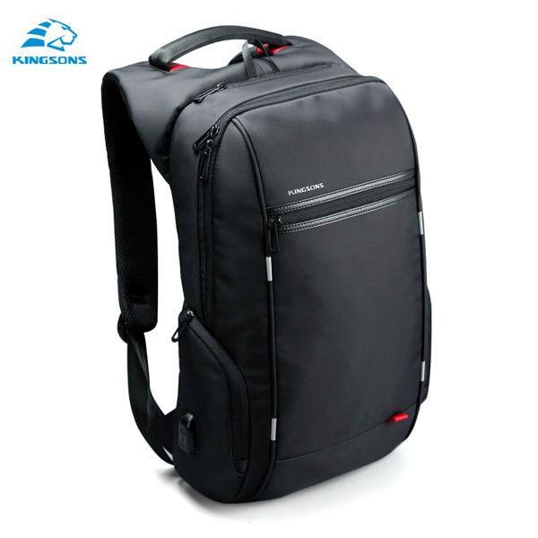 Kingsons External USB Charge Antitheft Notebook Backpac B Design for Men or Women 15.6'' Waterproof Laptop Backpack Computer Bag