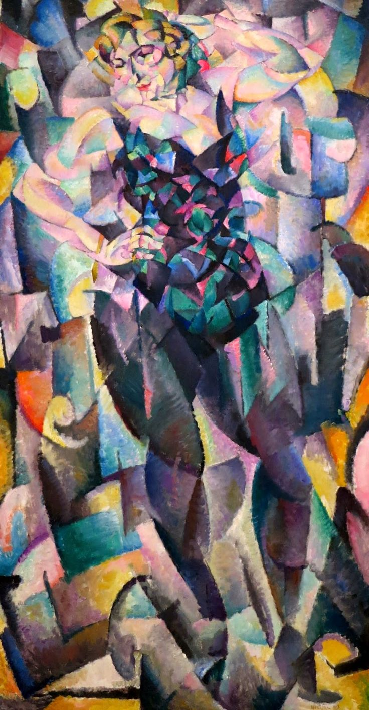 Leo Gestel, Cubist Female Figure, 1913 (oil on canvas)